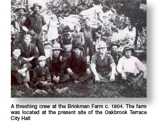 Brinkman Farm Threshing Crew in 1904